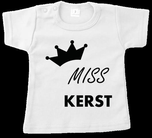 Baby Fun Tekst Thema S Kerstmis T Shirt Tshirt Miss Kerst